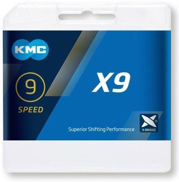 Køb KMC X9 9 speed 114 links Cykelkæde
